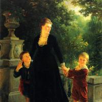 Portrait of M. A. Skoropadska sons