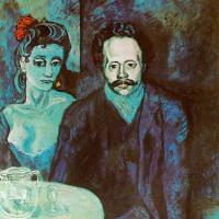 Портрет Себастьяна Видала с женщиной