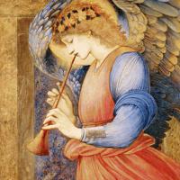 Angel playing flagol