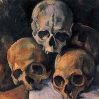 Поль Сезанн. Натюрморт с черепами