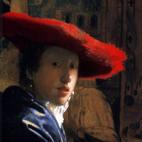 Ян Вермеер. Женщина в красной шляпе