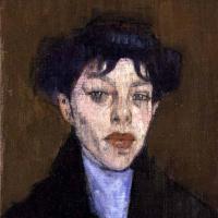 Портрет женщины с голубым платком