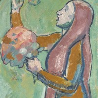 Cuno Amiè. Girl with flowers I