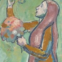 Куно Амье. Девушка с цветами I