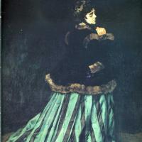 Клод Моне. Камилла или портрет дамы в зелёном платье