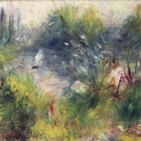 Landscape on the banks of the Seine