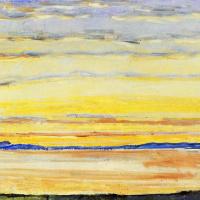 Ferdinand Hodler. Sunset on lake Geneva