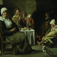 Антуан, Луи и Матье Ленен. Крестьянский интерьер со старым флейтистом