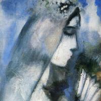 Марк Захарович Шагал. Невеста с веером