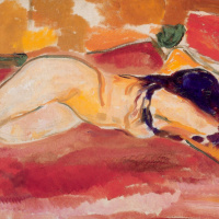 Edward Munch. Reclining Nude