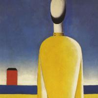 Kazimir Malevich. Complicated premonition (Torso in yellow shirt)