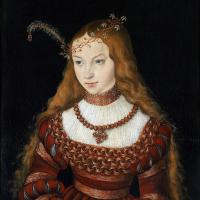 Лукас Кранах Старший. Принцесса Сибилла Клевская в наряде невесты