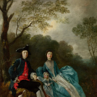 Автопортрет с женой Маргарет и старшей дочерью Мэри