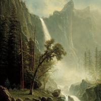 Альберт Бирштадт. Вуаль невесты, водопад в Йосемити