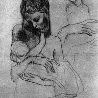 Мадонна с ребенком (этюд)