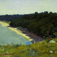 """On the shore of the sea. A sketch for the painting """"off the coast of the Gulf of Finland (Adrias near Narva)"""""""