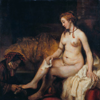 Рембрандт Харменс ван Рейн. Вирсавия с письмом царя Давида