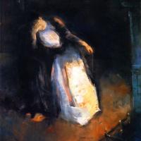 Лессер Ури. Женщина у каминного огня