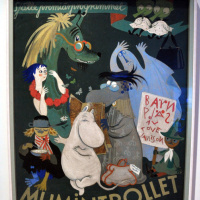 "Рисунок обложки для книги ""Муми-тролль и комета"""