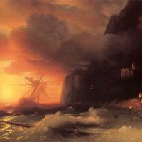 Shipwrecked off mount Athos
