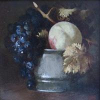 Персик в вазочке