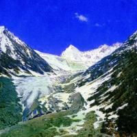 Ледник по дороге из Кашмира в Ладакх. Этюд