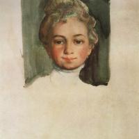 Константин Андреевич Сомов. Голова девушки (Е.Е. Владимирская)
