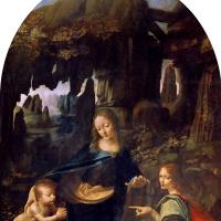 Леонардо да Винчи. Мадонна в скалах (Мадонна в гроте)
