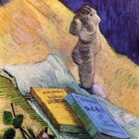 Винсент Ван Гог. Натюрморт с гипсовой статуэткой, розой и двумя романами
