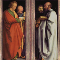 Четыре апостола. (Иоанн, Петр, Марк, Павел)
