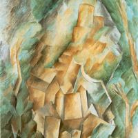 Georges Braque. The castle in La Roche Guyon