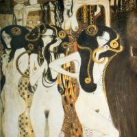 Густав Климт. Бетховен Фриз. Три горгоны: болезнь, безумие и смерть (фрагмент)