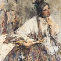 Nikolay Ivanovich Feshin. Portrait of Nadezhda Sapozhnikova