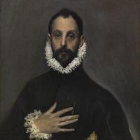 Эль Греко (Доменико Теотокопули). Рыцарь с рукой на груди
