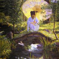 Лила Кэбот Перри. В японском саду