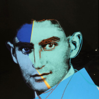"Portrait of Franz Kafka in a series of ""Ten famous Jews of the twentieth century"""