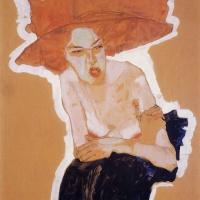 Эгон Шиле. Рыжеволосая женщина