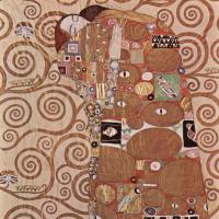 Густав Климт. Стоклед фриз. Объятие (фрагмент)