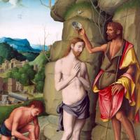 Марко Палмеззано. Крещение Иисуса Христа