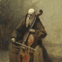 Камиль Коро. Монах с виолончелью