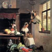 Давид Эмиль Жозеф де Нотер. Служанка на кухне