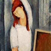 Портрет Жанны Эбютерн, поправляющей левой рукой распущенные волосы