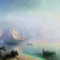Иван Константинович Айвазовский. Неаполитанский залив в туманное утро