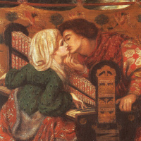 Данте Габриэль Россетти. Медовый месяц в кабинете короля Рене (Музыка)