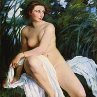 Зинаида Евгеньевна Серебрякова. Купальщица
