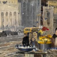 Юрий Иванович Пименов. Бумажные цветы и снег