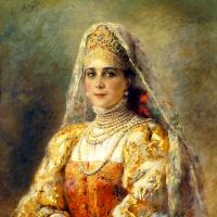 Портрет княгини Зинаиды Николаевны Юсуповой в русском костюме