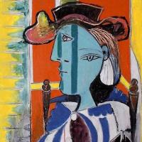 Пабло Пикассо. Женщина, сидящая со скрещенными руками (Мари-Терез Вальтер)