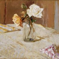 Жан Эдуар Вюйар. Розы в стеклянной вазе