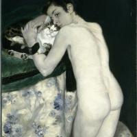 Пьер Огюст Ренуар. Мальчик с кошкой